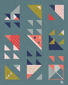 Illustration by Yu Kito Lee: Surface Pattern: Triangles