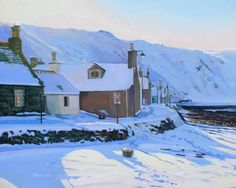 """""""Crovie Snowfall"""" by Danny Ross Great Places, Places To See, Painting Snow, Snow Scenes, Winter Beauty, Most Beautiful Cities, Scottish Highlands, Scotland Travel, Seaside"""