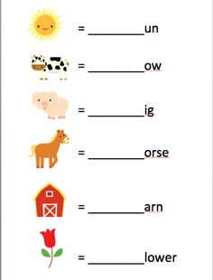 Printable Preschool First Letters Farm Worksheet