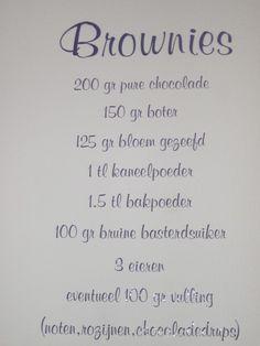 brownies | Muurstickers interieurstickers keuken / recepten |