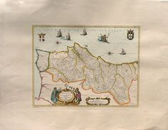 Ancient Maps  Portugal   Cm. 81 x 61 Inches 319 di OldDecorPrints