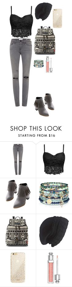 """""""Untitled #11"""" by mia-tox ❤ liked on Polyvore featuring Frame Denim, WithChic, Accessorize, UNIONBAY, Laundromat, Sonix and Christian Dior"""