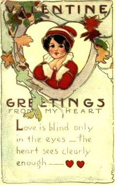 Greetings from my heart Victorian Valentines, Vintage Valentine Cards, Vintage Greeting Cards, Vintage Holiday, Valentine Day Cards, Vintage Postcards, Holiday Postcards, Vintage Images, My Funny Valentine