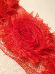 Orange Chiffon Flowers by MonAmiePaperie on Etsy, $5.44