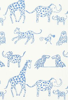 Lulu DK Child fabric in Jungle Jubilee, colour: Sky.  Perfect!!!!