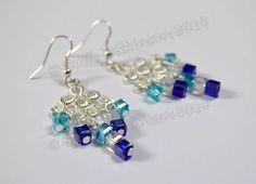 multi cube earrings Chandelier Earrings, Crystal Earrings, Drop Earrings, Cube, Jewelery, Buffy, Crystals, Trending Outfits, Unique Jewelry