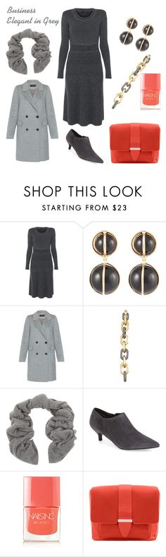 "When the Invitation Says: ""Business Elegant"" by tishjett on Polyvore featuring Lyn Devon, Peserico, Trotters, Tila March, Lele Sadoughi, Asha by ADM, Repeat Cashmere and Nails Inc."