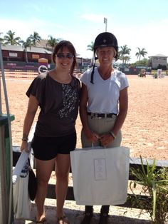 Pictured is Lisa Jacquin, winner of the Draper Therapies Best Foot Forward Award during the 2012 Winter Equestrian Festival in Wellington, FL.