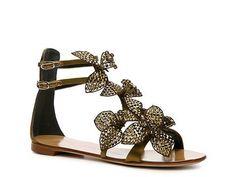 9a1b0fc93d44 Giuseppe Zanotti Satin Flower Sandal  DSW Designer Shoe Warehouse  W  magazine Beautiful Sandals