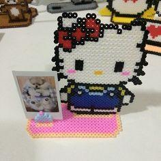 Hello Kitty photo holder perler beads by secret_beads