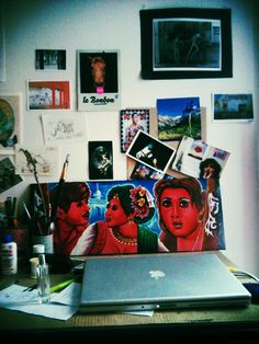 A sample of Rickshaw Art on a parisian desk =) Buy one at www.rickshawart.org !