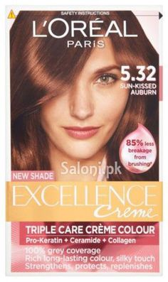 loreal paris excellence creme 532 sun kissed auburn - Coloration Excellence