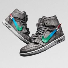 premium selection 1f8c1 03a2c  theshoesurgeon takes  off    white s Menta colourway to his latest Air  Jordan 1 project. Available