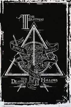 Harry Potter- Deathly Hallows Diagram Affiche