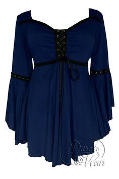 Dare To Wear Victorian Gothic Women's Ophelia Corset Top Midnight