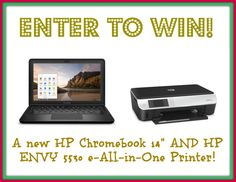 Have you entered yet to win this AWESOME giveaway @Thrifty Nifty Mommy?   A @HP Chromebook and Envy 5530 All-in-one printer.