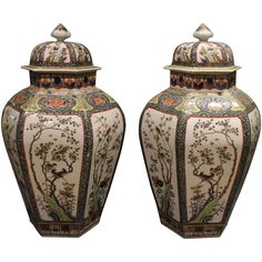 Pair of Striking Antique Chinese Famille Verte 'Green' Vases and Covers | 1stdibs.com.  $9k.  PLACE OF ORIGIN China DATE OF MANUFACTURE circa 1880 PERIOD Late 19th Century CONDITION Good. One neck edge restored and one lid chip restored, we use the finest restorers in the UK, any restoration is virtually invisible. . DIMENSIONS 17.72 in.H 45 cmH DIAMETER 9.45 in. (24 cm) DEALER LOCATION London, GB