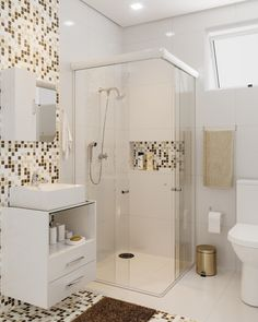 Easy Shower Remodel Diy and Small Shower Remodel Marble. Bathroom Layout, Bathroom Interior Design, Modern Bathroom, Small Bathroom, Small Shower Remodel, Small Showers, New Homes, Decoration, Home Decor