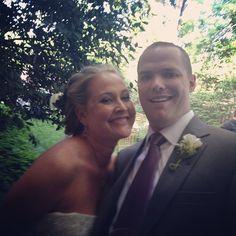 The happy bride & groom- congrats Mr & Mrs Judy!  #jennandjudy #lovebirdsevents