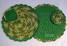 Tecendo Artes em Crochet: Jogo Americano 4 Peças com Fio Duna da Círculo!
