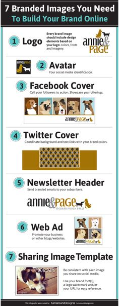 7 Branded Images You Need To Build Your Online Brand #infographic