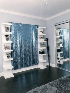 Amazing Ikea Lack Shelf Hacks Ideas For Inspirations 12 - Home Decor Ideas 2020 Ikea Lack Shelves, Lack Shelf, Floating Shelves Diy, Makeup Beauty Room, Beauty Room Decor, Makeup Rooms, Makeup Salon, Diy Makeup, Ikea Makeup