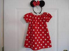 Minnie Mouse costume with hairbow or with hairbow by RaDzaeDezynes