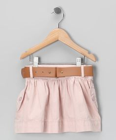 #zulily #fall  Take a look at this Blush Utility Pocket Skirt - Toddler & Girls by Blow-Out on #zulily today!