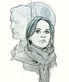 Jyn Erso by Phil Noto. Rogue One.