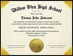 8 best high school diploma template images in 2019 rh pinterest com
