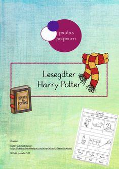 Lesegitter Harry Potter Unterrichtsmaterial Im Fach Deutsch Lesen Unterrichtsmaterial Worter