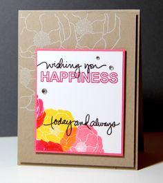 Amusing Michelle: One card, three challenges