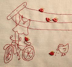 eeek!  love this ButtonMad: Birds on a Wire - Free Stitch Pattern