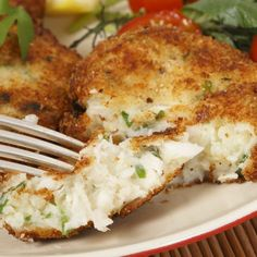 This cod fish cake recipe is made from fresh fish, and is a simple and quick meal to make. It is very nice served with rice or mashed potatoes.