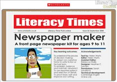 Newspaper articles maker
