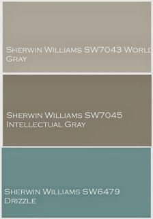 The Yellow Cape Cod: Whole House Design Project~Linen, Gray and Turquoise. Exterior colors - minus the Drizzle color