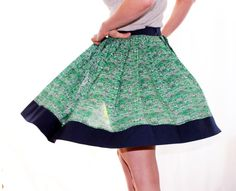 pleated circle skirt pattern - want to make in white, and with a heavier cotton fabric.