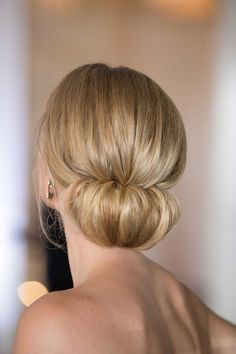Elegant Updo with Strapless Gown Photography: Collin Pierson Photography Read More: http://www.insideweddings.com/weddings/southern-elegance-inspired-styled-shoot-with-playful-summer-details/837/