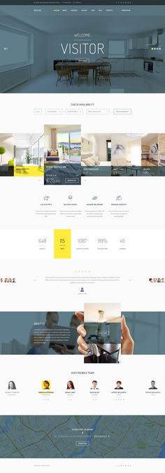 Visitor — modern and professionally crafted PSD theme which can be used for be used for small #hotel, hostel, guest houses, resort, room reservation, #travel or other website. #psdtemplates