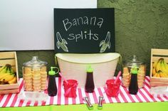 banana split bar http://media-cache3.pinterest.com/upload/185280972139338098_GqkoGaGQ_f.jpg elizabethreg curious george birthday party ideas