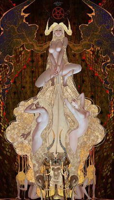 Tarot-Devil, Casimir Lee on ArtStation at https://www.artstation.com/artwork/rZOLe
