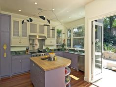 Purple: Naturally Pleasing Palette - 30 Bright, Bold and Colorful Kitchens on HGTV