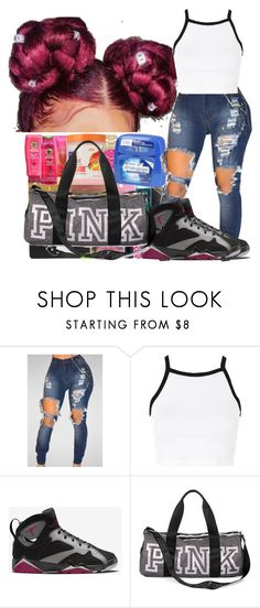 """☺"" by kisha1891010 ❤ liked on Polyvore featuring Topshop, NIKE and Victoria's Secret"
