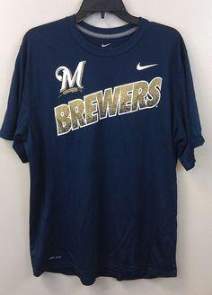 Just $22.99 !! Milwaukee Brewers Nike Dri-Fit T-Shirt XL RARE Awesome Graphics NEW/NWT MLB  #Nike #MilwaukeeBrewers