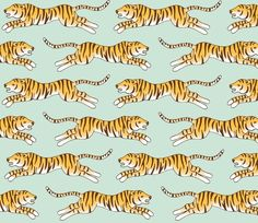 Wrapping paper – tiger pattern wrapping paper – a unique product by enna on DaWanda