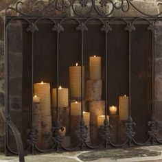 Candles In Fireplace Ideas the secret to decorating a fireplace | romantic candles, backdrops