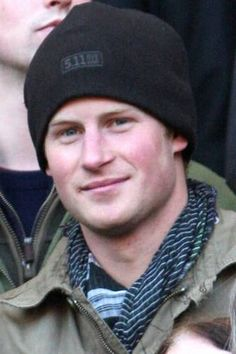 Prince Harry wearing hat