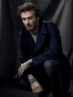 As seen on #DavidBeckham, #Tudor Watch's new brand ambassador, the NEW Black Bay Chrono timepiece looks great whether it is paired with a plain t-shirt, a suit, denim shirt, or even with a wool jacket thrown on.