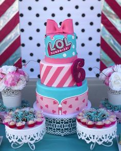 L.O.L Birthday Party #party #lolcake #lolparty #loldollparty #lol #loldolls #lol#