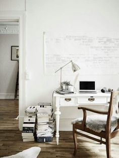 Home office ideas for men on a budget, for two, blue small, for women, diy organization work from creative bedroom rustic modern with couch layout Home Interior, Interior And Exterior, Interior Design, Design Interiors, Workspace Inspiration, Interior Inspiration, Design Inspiration, Office Workspace, Office Decor